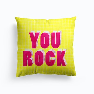 You Rock Typography Cushion