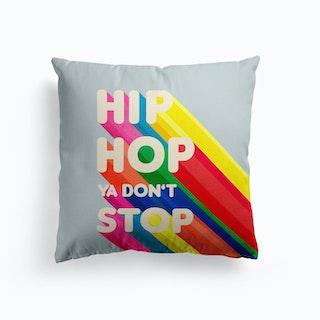 Hip Hop Typography Cushion