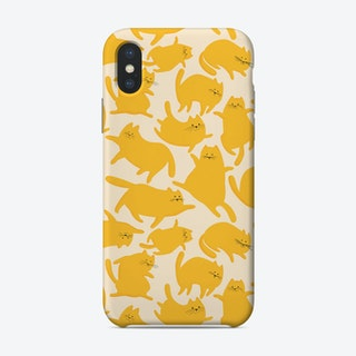 Cats Yellow Pattern Phone Case