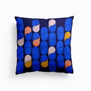 Blue Modern Pattern Cushion