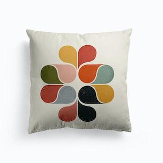 Geometric Flower Cushion