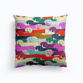Long Dog Pattern Cushion