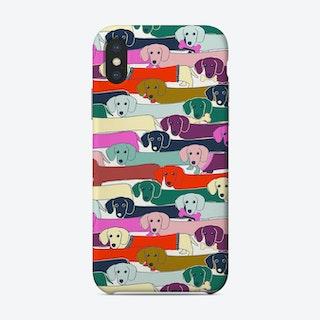 Long Dog Pattern Phone Case