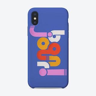 Bon Jour On Blue Phone Case