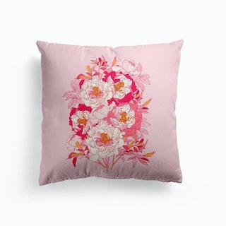 Pink Peonies Cushion