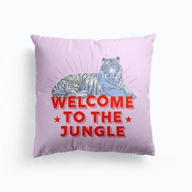 Welcome To The Jungle Retro Tiger Cushion