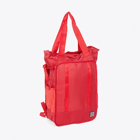 Packaway Ripstop Tote Bag in Red