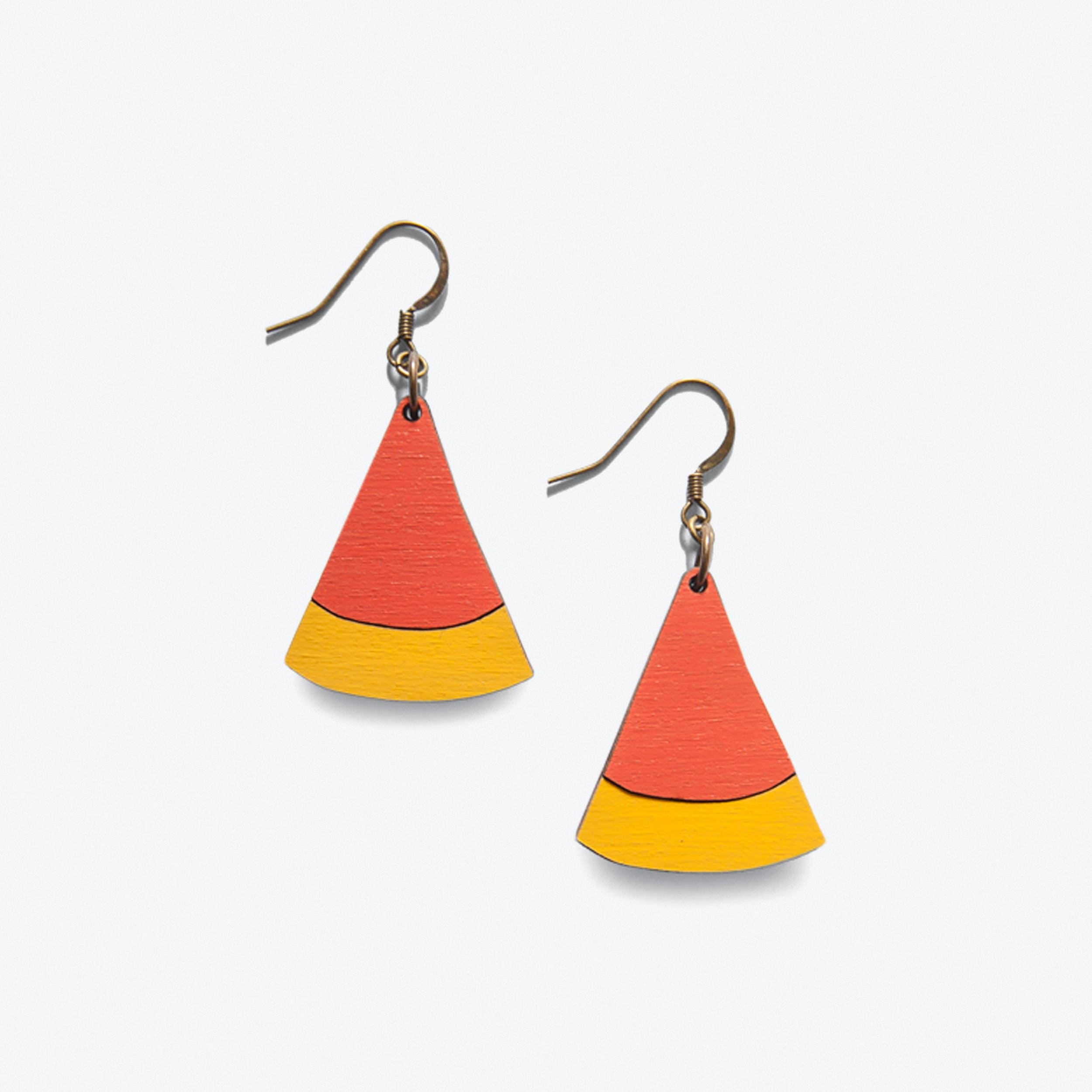 La Palette Earrings In Grapefruit