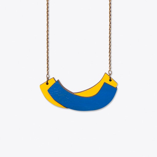 The Quilt Necklace In Cobalt