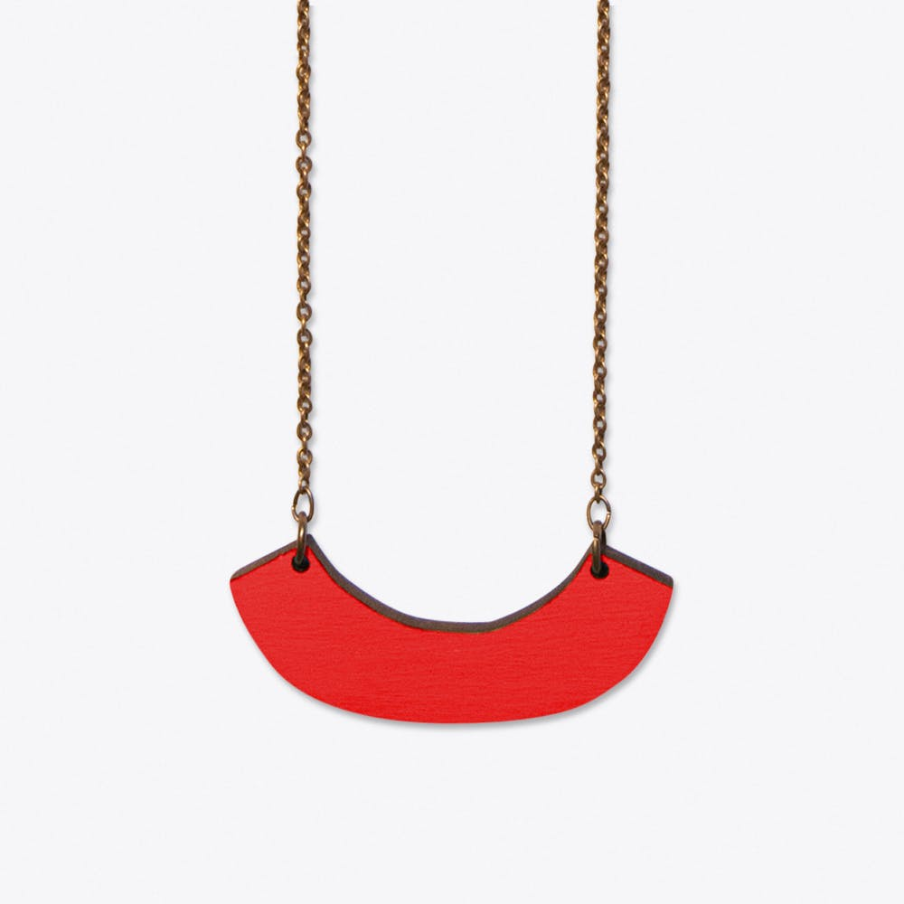 La Couple Necklace In Red