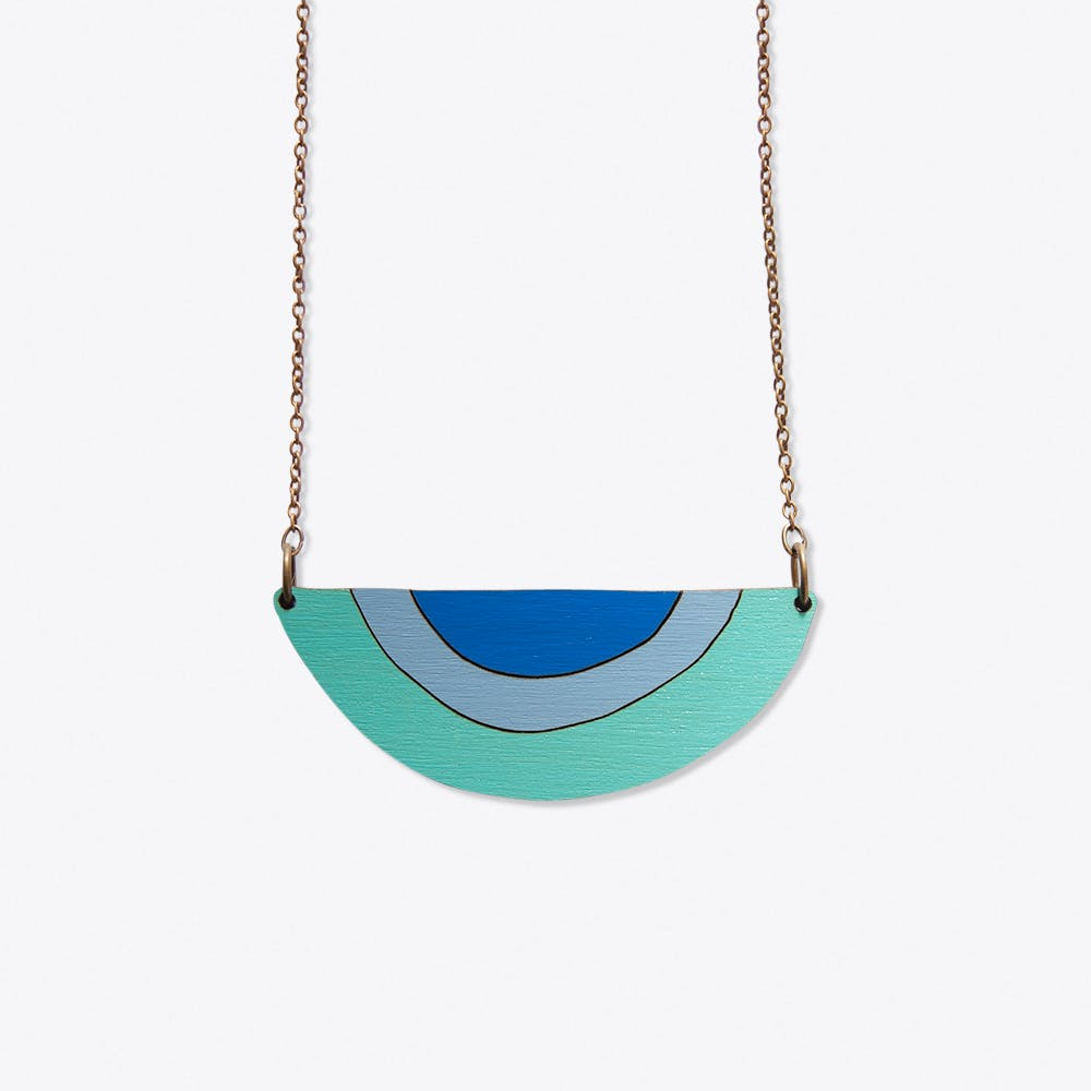 The Snake Charmer Necklace In Teal