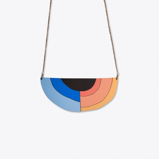 Abstract Necklace In Black