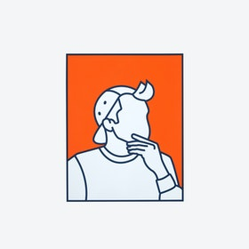 Boy in Cap  II (Limited Edition Screen Print)