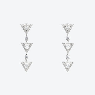 3 'Mini Triangles' Silver Drop Earrings