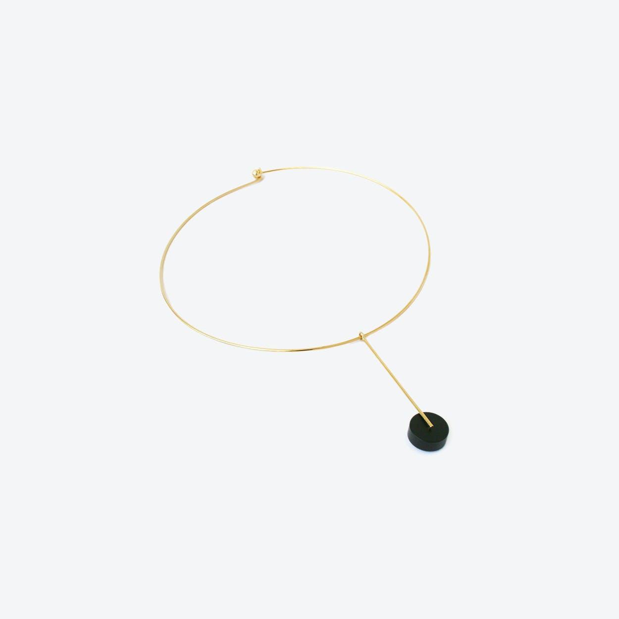 Kasia Choker Necklace Gold & Black
