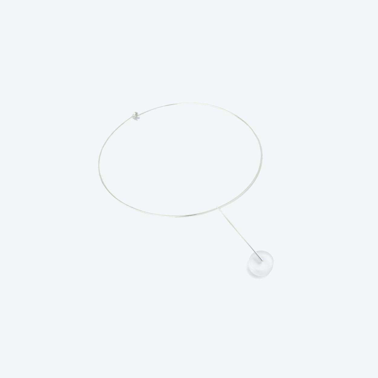 Kasia Choker Necklace Silver & Translucent