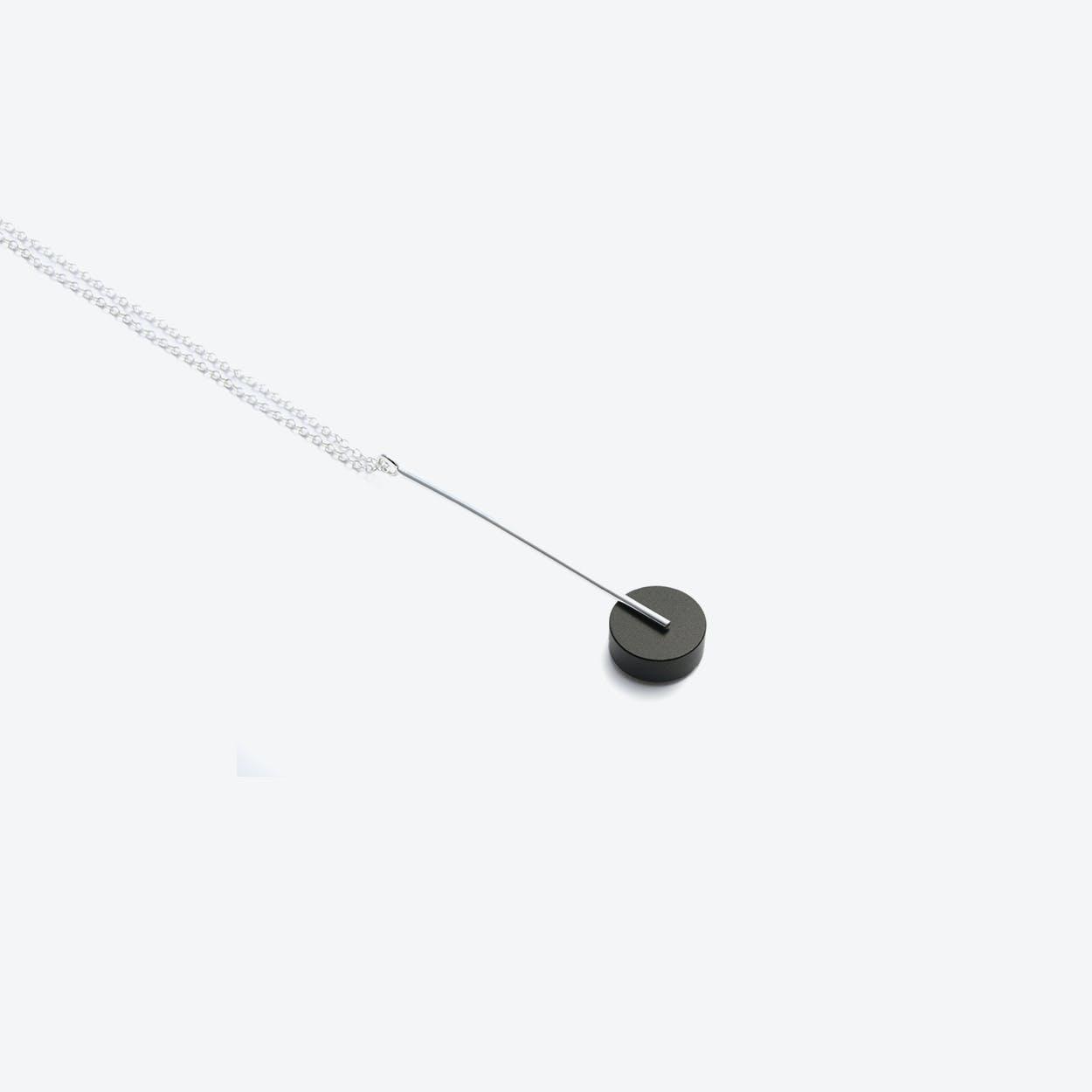Kasia Pendant Necklace Silver & Black