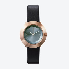 Fuji Ø 31 Watch w/ Grey Face and Black Calfskin Leather Strap