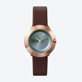 Fuji Ø 31 Watch w/ Grey Face and Brown Calfskin Leather Strap