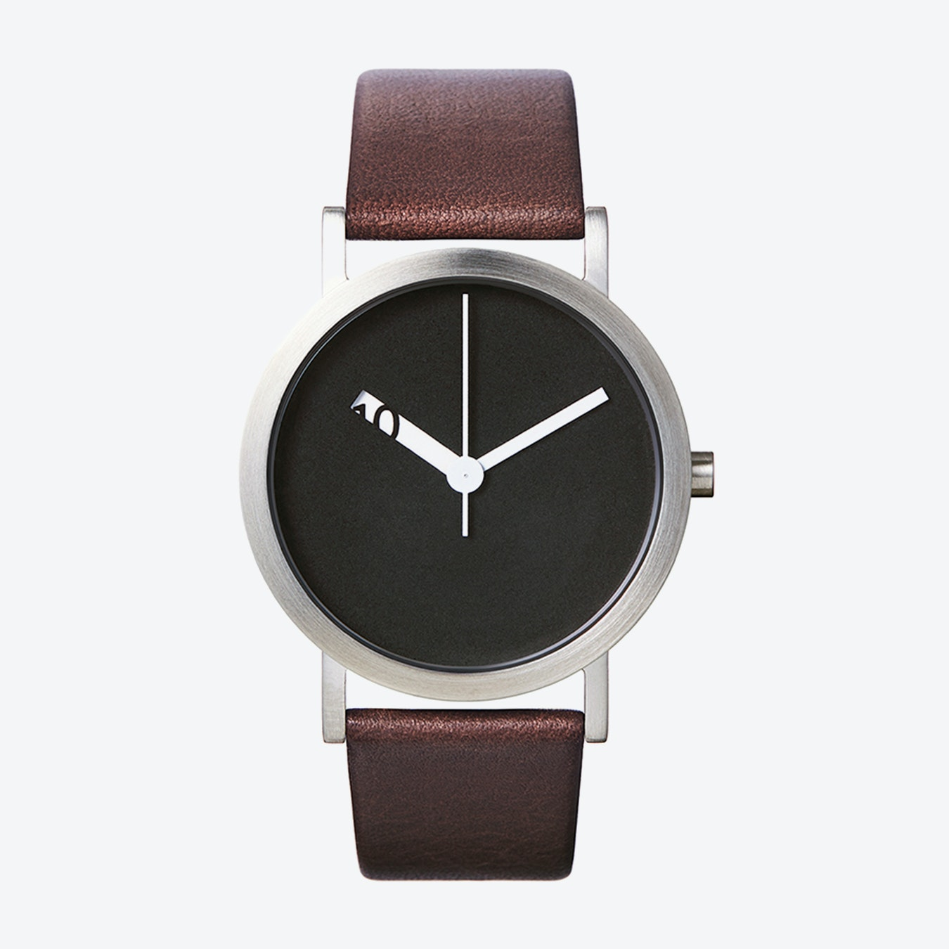 dcd350b69 Extra Normal Grande Watch w/ Black Face and Brown Calfskin Leather Strap by  Normal Timepieces
