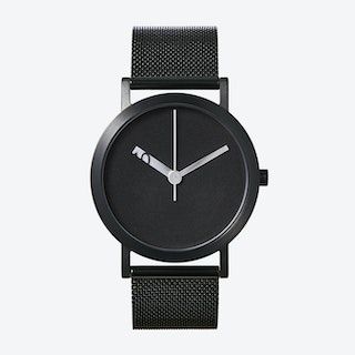 Extra Normal Grande Watch w/ Black Face and IP Black Stainless Steel Mesh Band