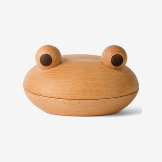 Spring of Copenhagen Frog Snack & Storage Bowl in Beechwood & Walnut