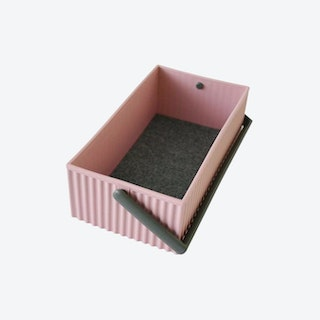 Small Omnioffre Stacking Storage Box in Rose Pink