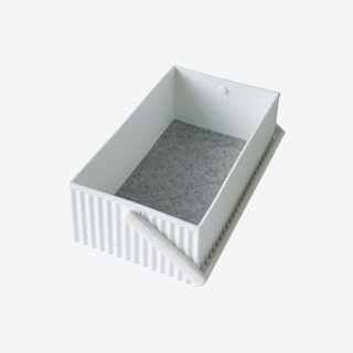 Small Omnioffre Stacking Storage Box in White