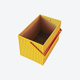 Tall Omnioffre Stacking Storage Box in Mustard