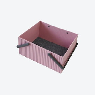 Wide Omnioffre Stacking Storage Box in Rose Pink