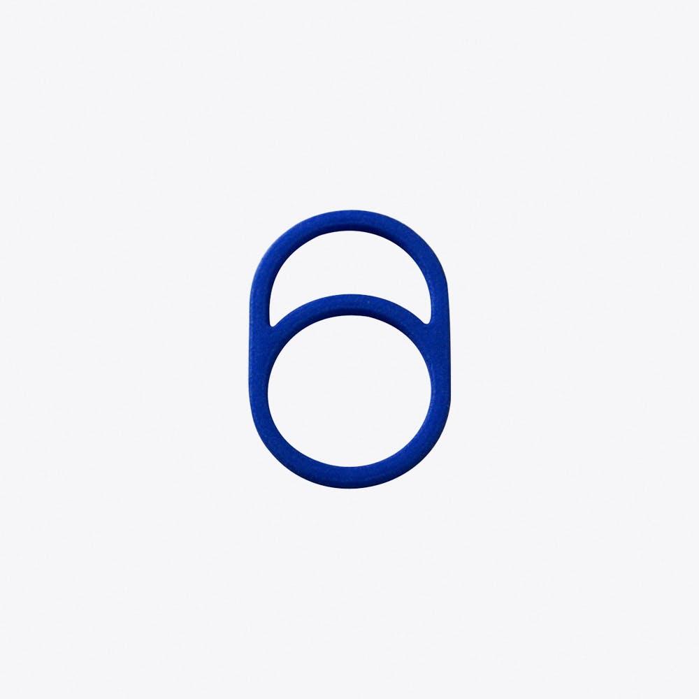 Framed Ring 0 in Blue