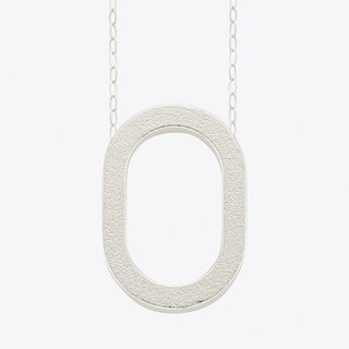 Framed Pendant 0 in Silver