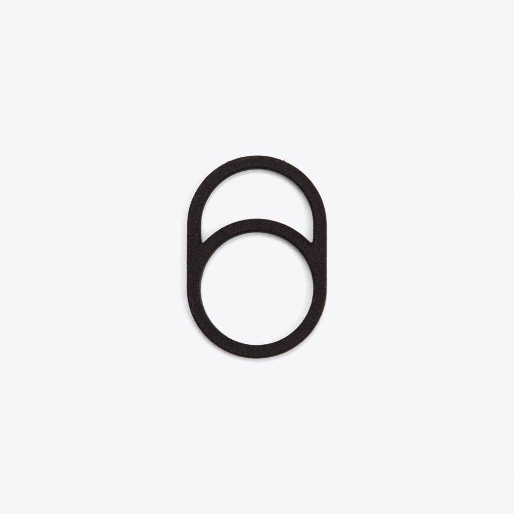 Framed Ring 0 in Black