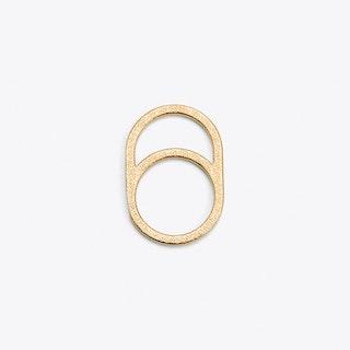 Framed Ring 0 in Gold