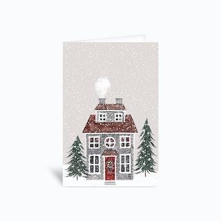 Christmas House 4x6 Greetings Card
