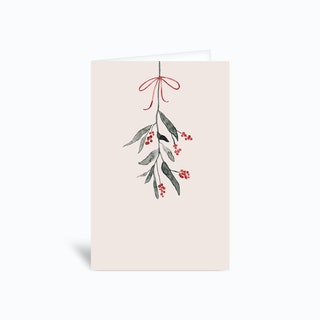 Mistletoe Ii 4x6 Greetings Card