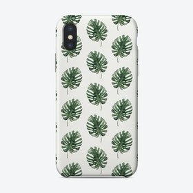Monstera Pattern Phone Case