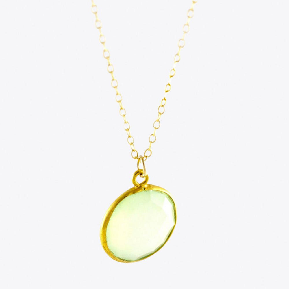 Chalcedony Necklace in Green