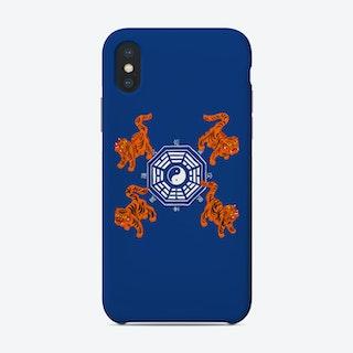 Bagua Tigers Blue Phone Case