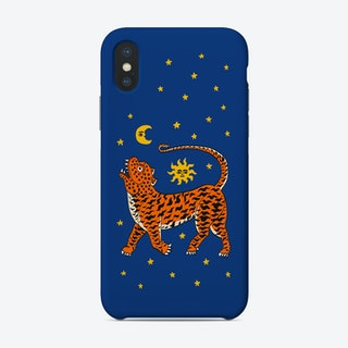 Tiger Temple Stars Blue Phone Case