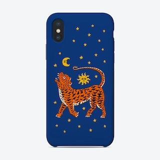 Tiger Temple Stars Blue Phone Case