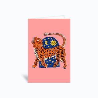 Tiger Magic Door Greetings Card