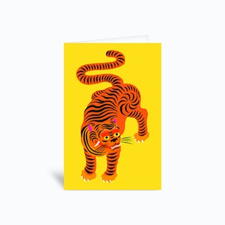 Tiger Yellow Greetings Card