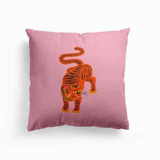 Tiger Pink And Black Cushion