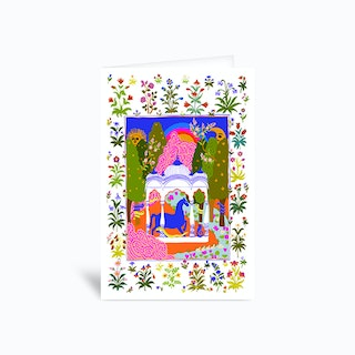 Horse Temple Greetings Card