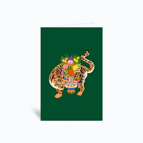 Good Luck Tiger Greetings Card