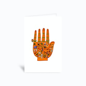 Indian Palmistry Greetings Card
