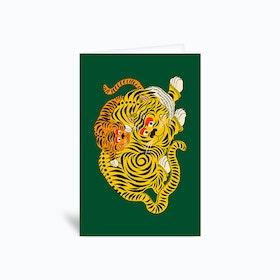 Mama 2 Green Greetings Card