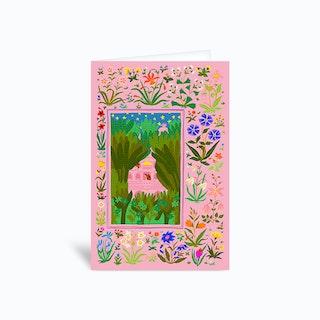 Secret Palace Pink Greetings Card