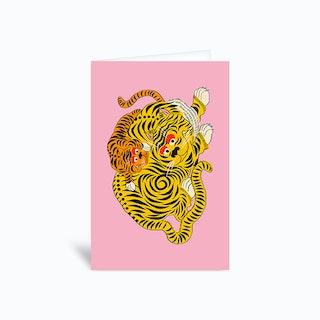 Mama 2 Pink Greetings Card